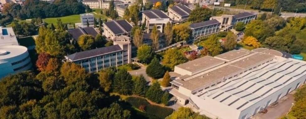 Vista aérea del campus de Lugo