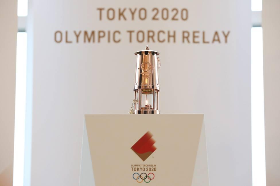 La llama olímpica de Tokio 2020