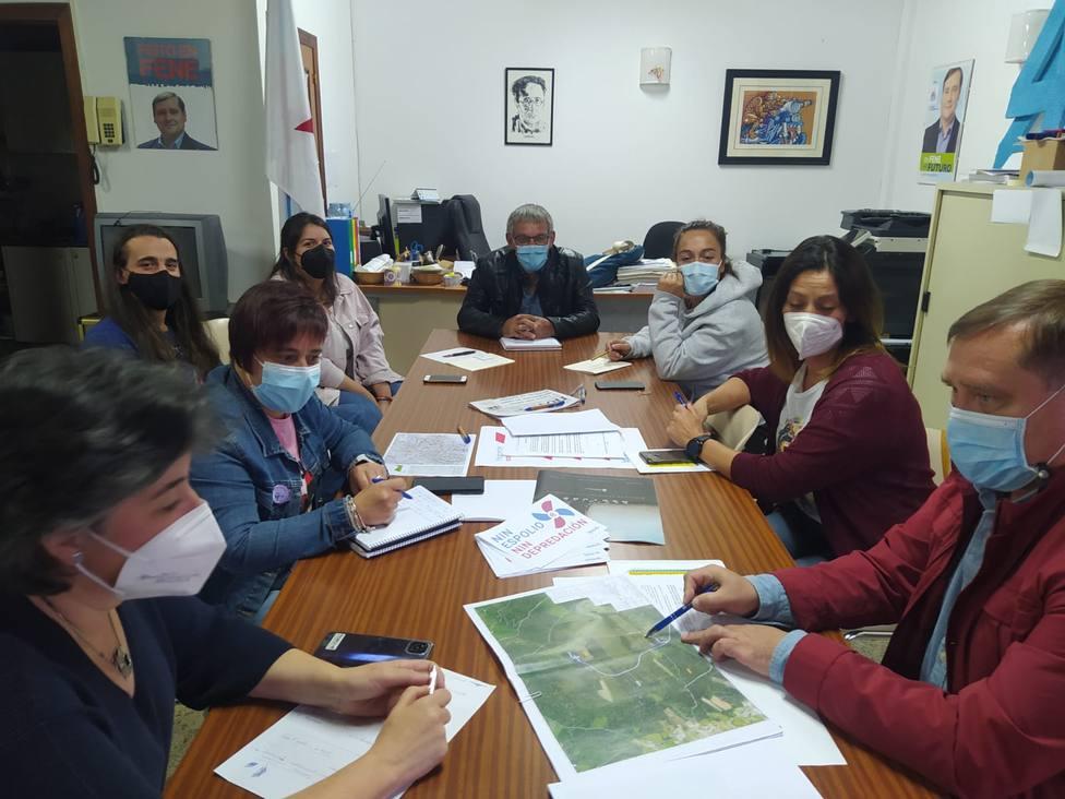 Reunión de representantes del BNG de los ayuntamientos de la comarca. FOTO: BNG