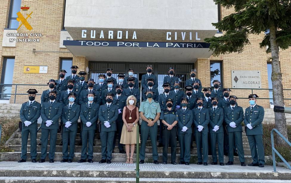 Los nuevos agentes de la Guardia Civil
