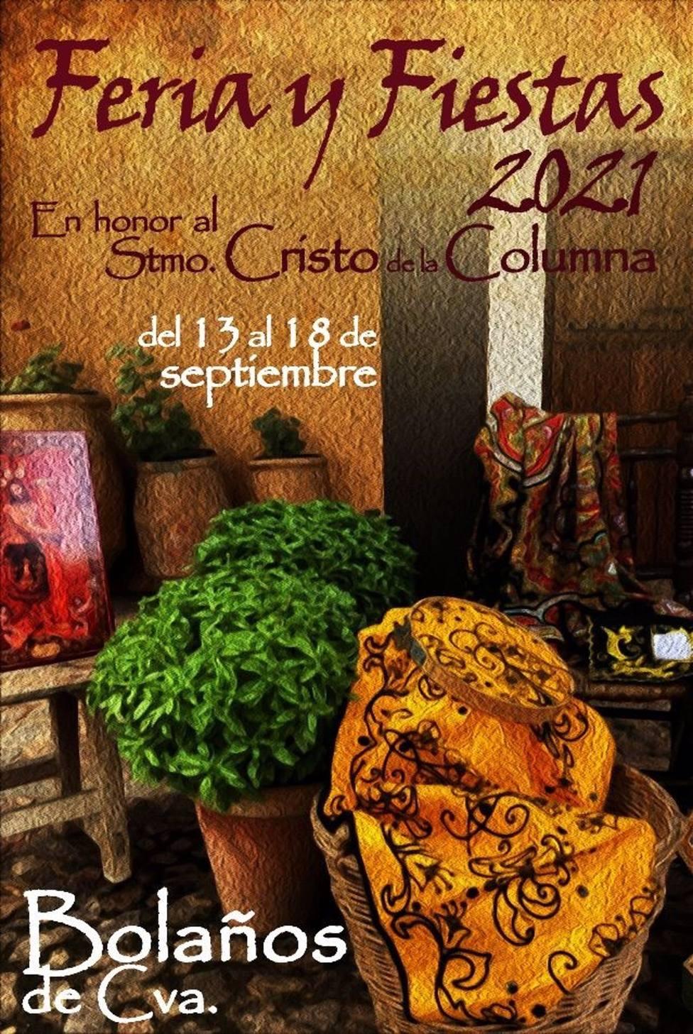 Cartel de XXXIX Certamen Nacional de Pintura y Literatura Castillo de San Fernando de Bolaños