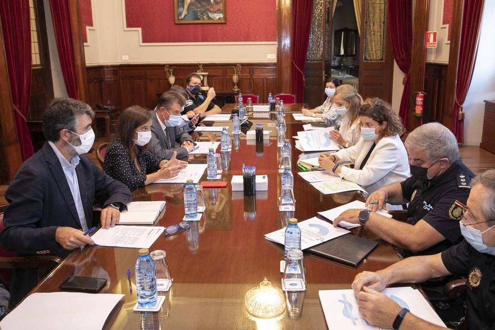 Reunión de la Junta Local de Seguridad de A Coruña
