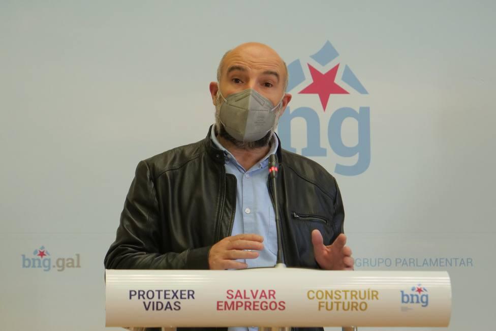 Nestor Rego en su comparecencia para presentar la iniciativa - FOTO: BNG
