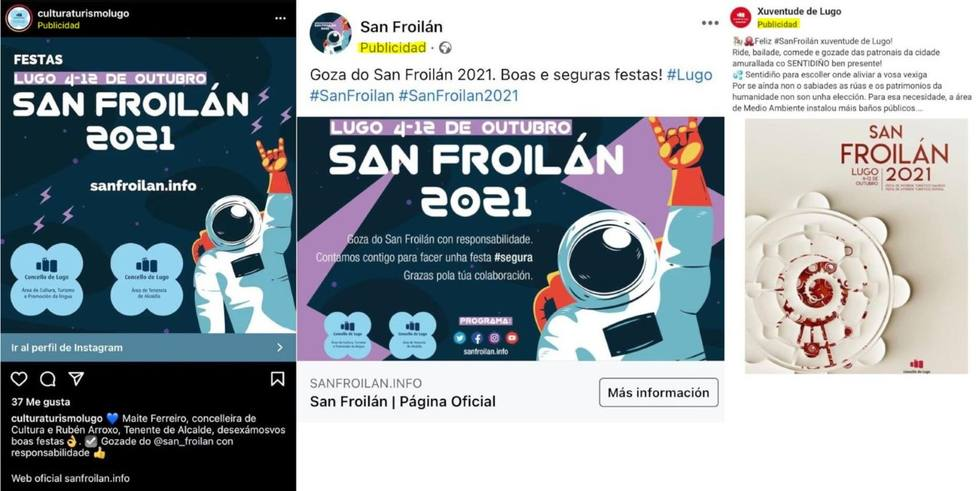 Campaña en redes sociales de ambos socios del gobierno bipartito