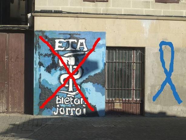 Pintadas de ETA en las calles del País Vasco. EFE