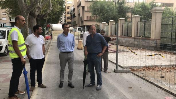 Comienzan las obras de hormigonado de la Avenida Alfonso X el Sabio