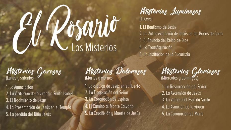 Cómo se reza el Rosario: los misterios
