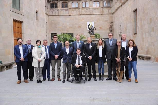 Torra se reúne con los diputados y senadores del PDeCAT y ratifica su no a los PGE