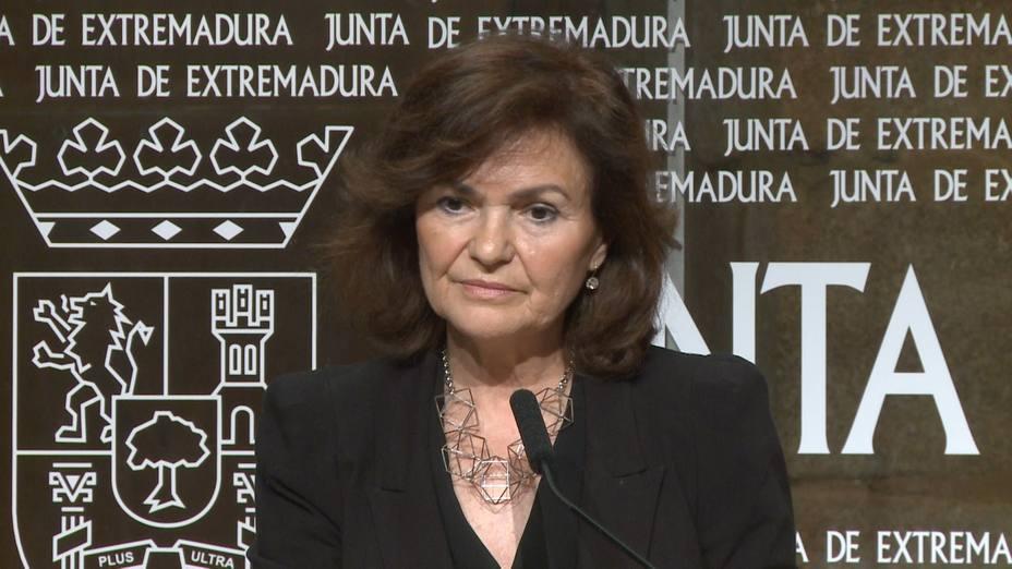 Calvo subraya que el Gobierno sigue cumpliendo el calendario marcado desde el minuto uno sobre los restos de Franco