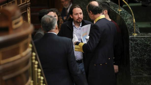 Pablo Iglesias en el Congreso en el Aniversario de la Constitución