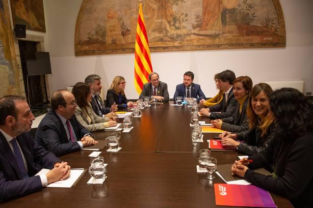 Empieza la mesa de diálogo convocada por Torra con el PSC, los comuns, ERC y JxCat