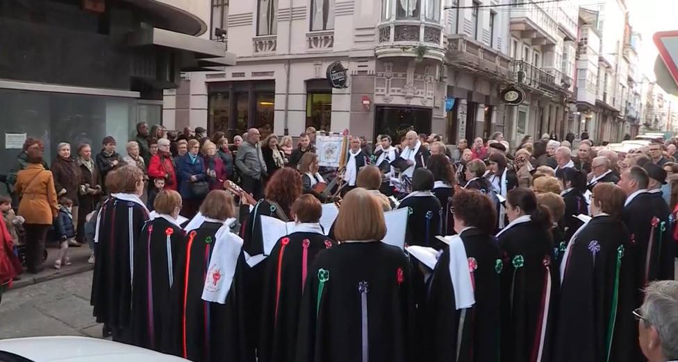 Rondalla en la calle Magdalena de Ferrol