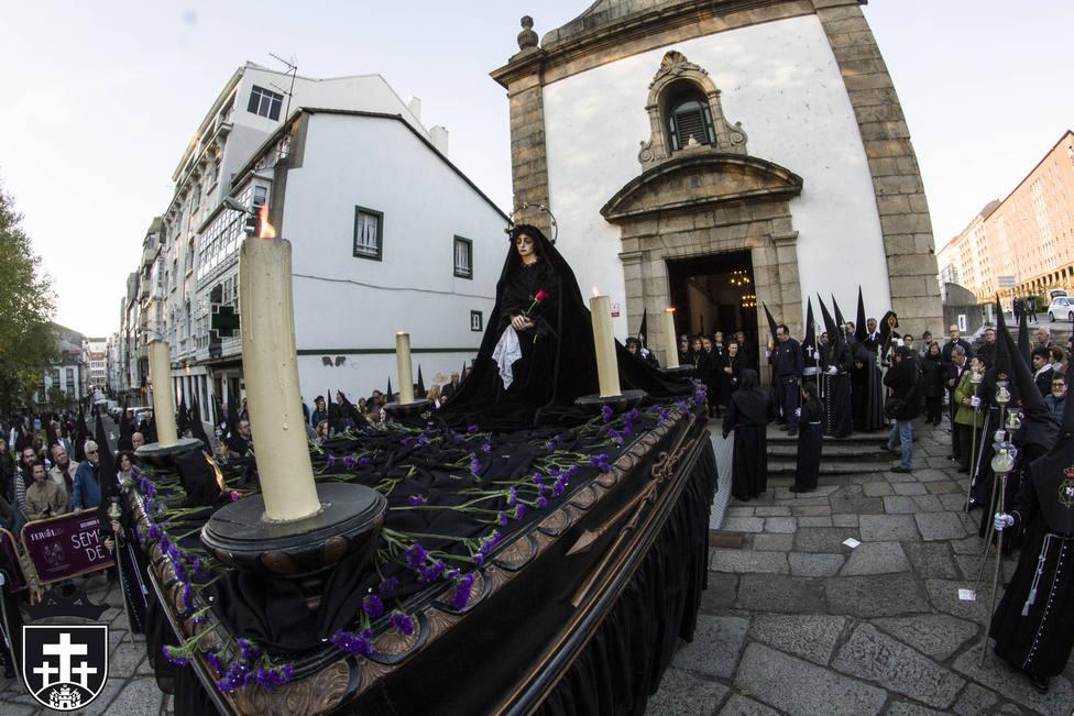 La Virgen de la Caridad y del Silencio protagoniza la procesión del Sábado Santo - FOTO: Junta de Cofradías
