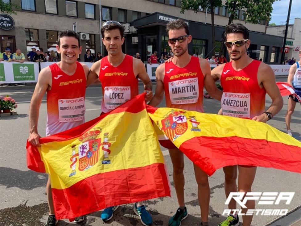 Oro para Miguel Ángel López en 20Km por equipos