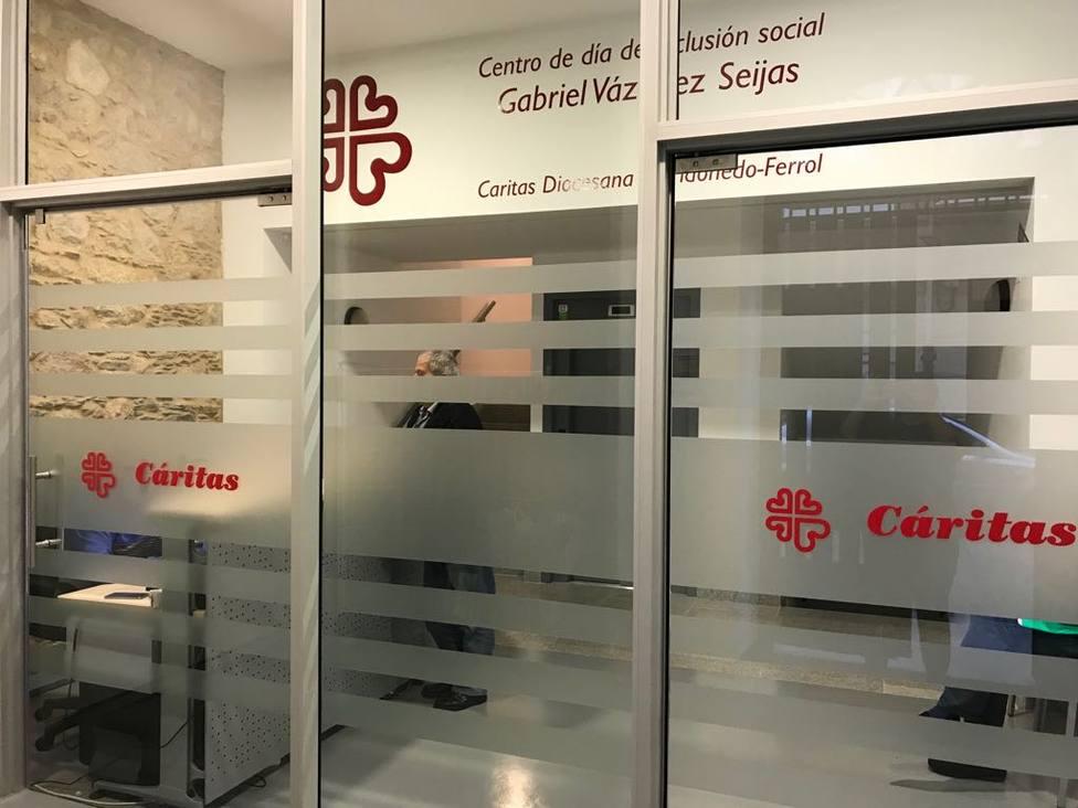Hall de entrada del centro de inclusión social Gabriel Vázquez Seijas