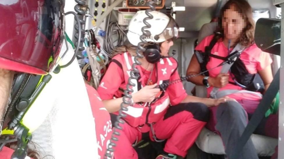 Evacuada en un helicóptero una senderista