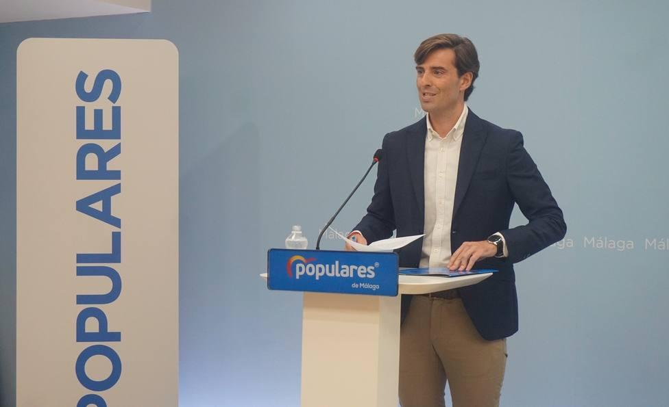 El vicesecretario de Comunicación del Partido Popular, Pablo Montesinos, en la sede del PP de Málaga