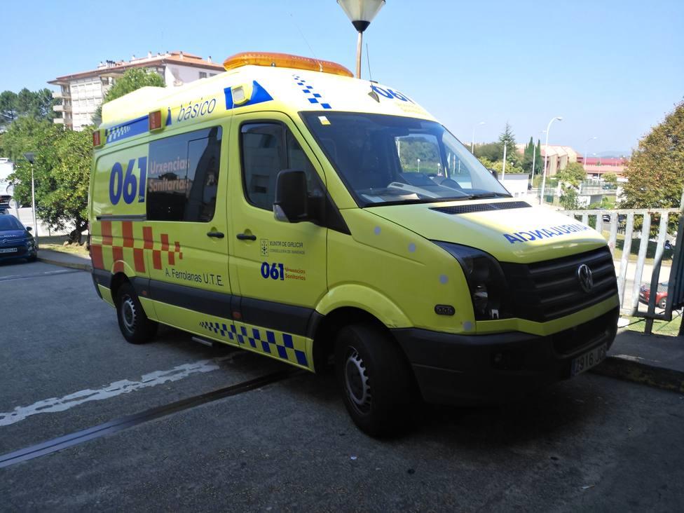 Foto de archivo de una ambulancia del 061-Urxencias Sanitarias