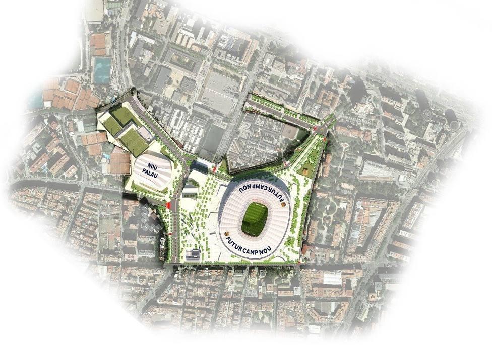 Mapa del nuevo Espai Barça