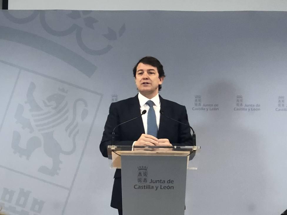 Alfonso Fernández Mañueco, presidente de la Junta de Castilla y León, en su visita de hoy a Soria