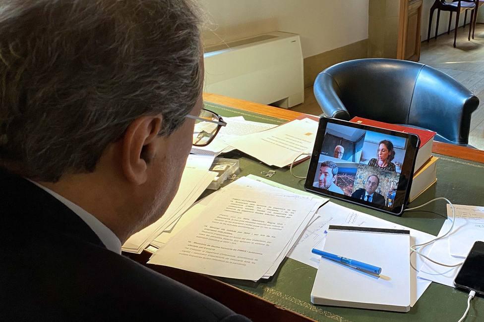 Torra reconoce a las Cámaras de Comercio la dureza del confinamiento pero les pide compromiso