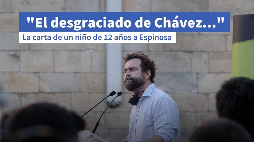 La carta de un niño de 12 años a Espinosa de los Monteros: El desgraciado de Chávez...