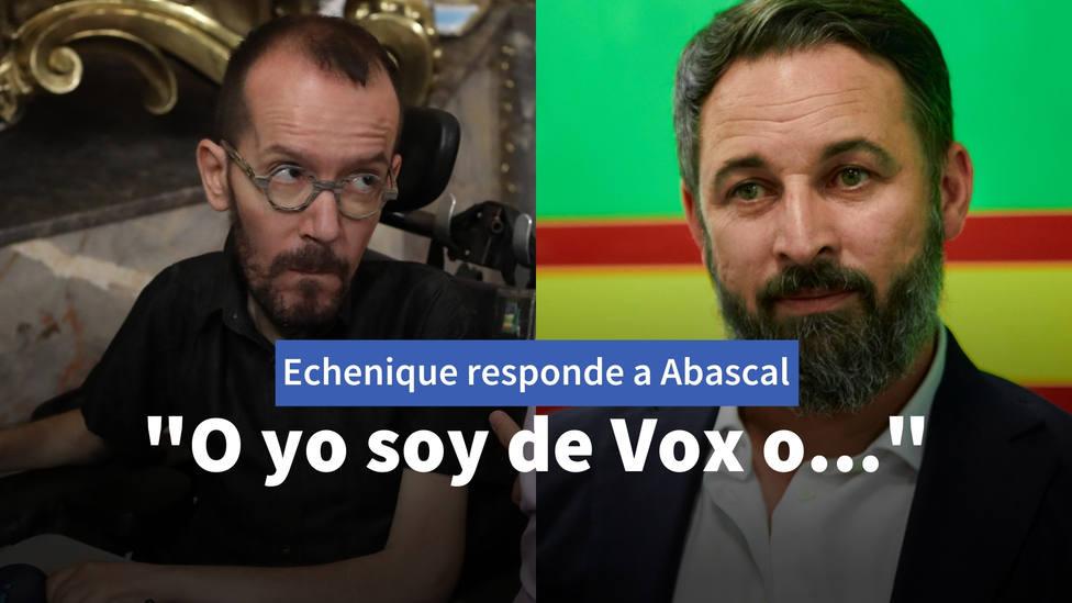 La respuesta de Echenique a un mensaje de Abascal: O yo soy de Vox o...
