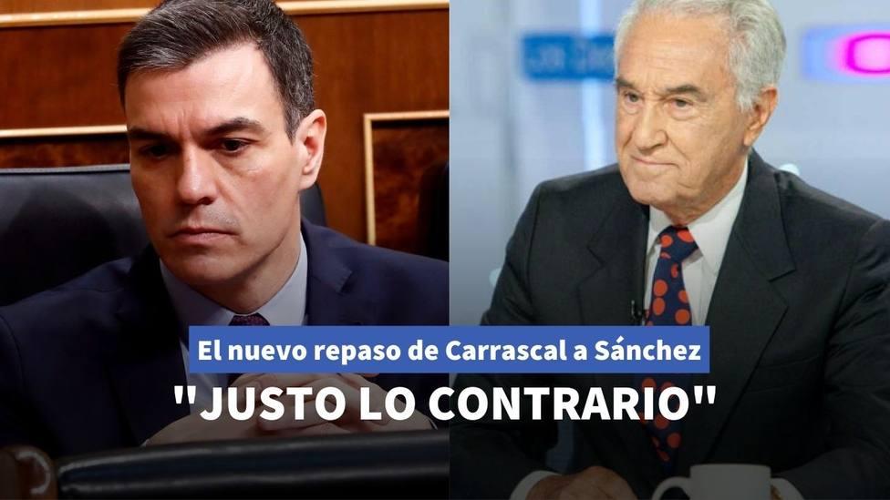 Pedro Sánchez y José María Carrascal
