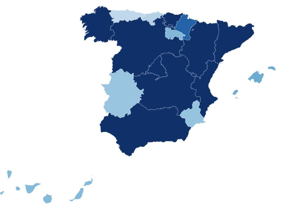 Mapa de las restricciones en cada comunidad para detener el coronavirus