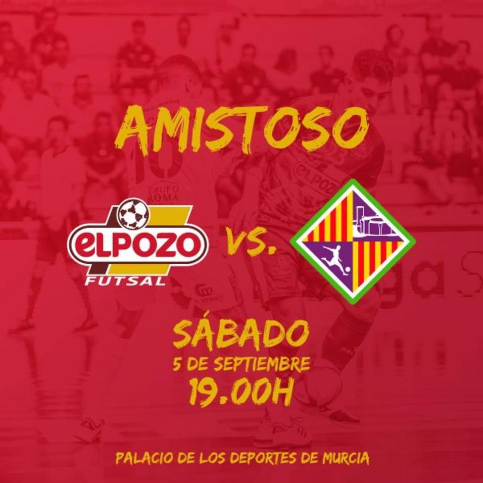 ElPozo Murcia Costa Cálida jugará su primer amistoso ante Palma FS
