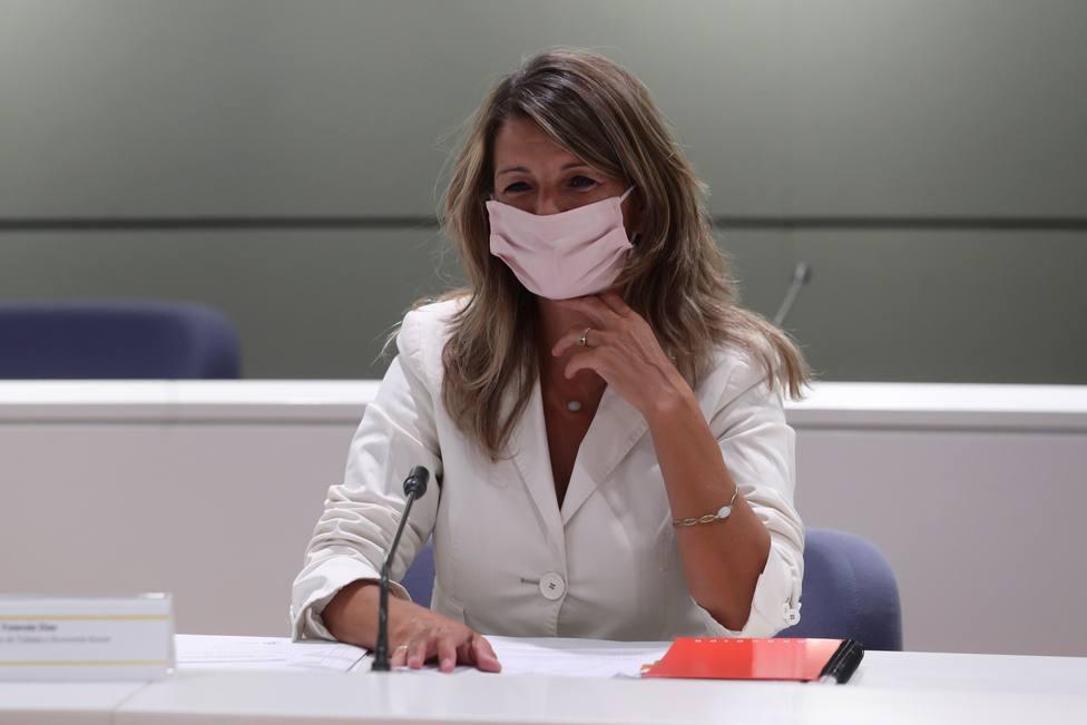 Yolanda Díaz: Los ERTE han de permanecer hasta cuando sea necesario