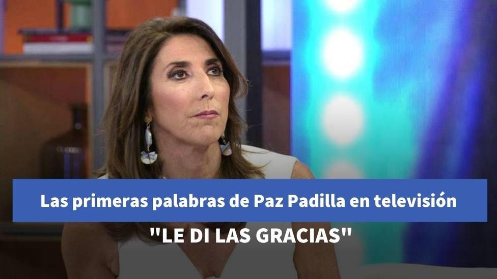 Las primeras palabras de Paz Padilla tras la muerte de su marido: Le di las gracias