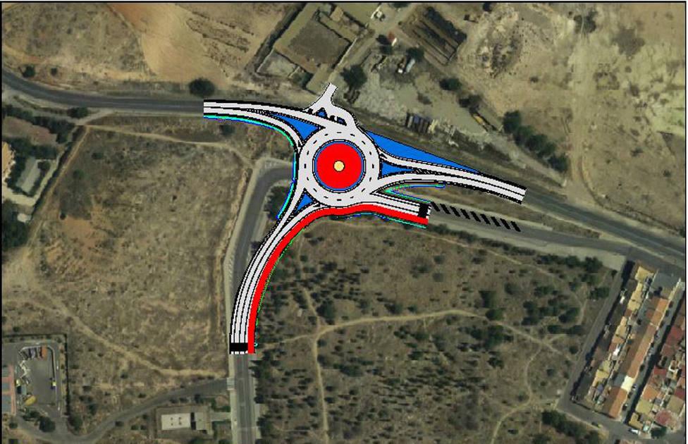 Las obras de la nueva rotonda del acceso oeste obligarn a reorganizar el tráfico en la zona