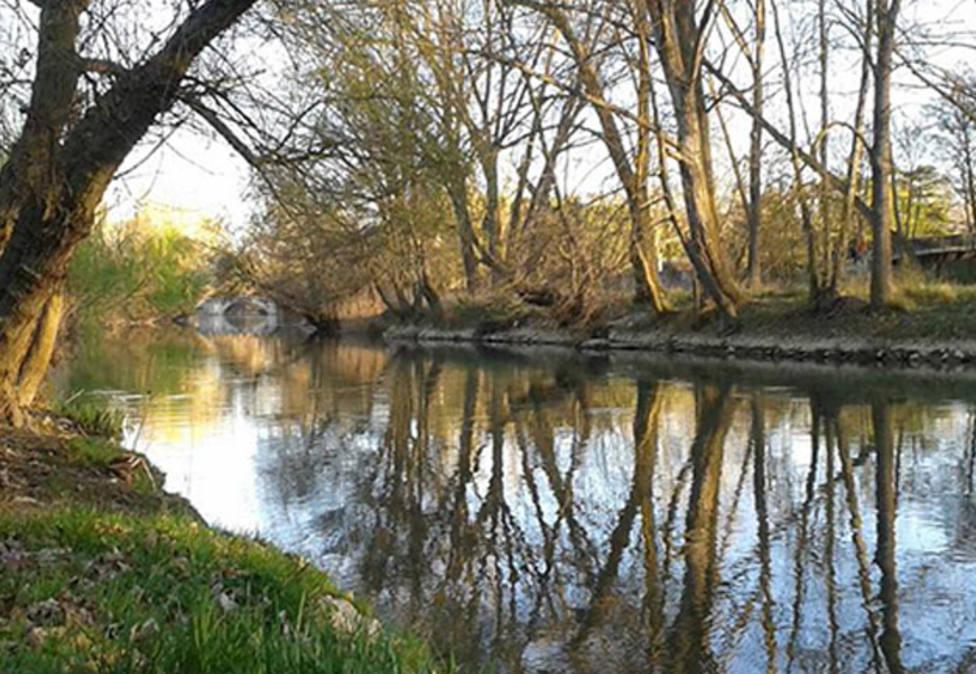 Río Carrion a su paso por Palencia