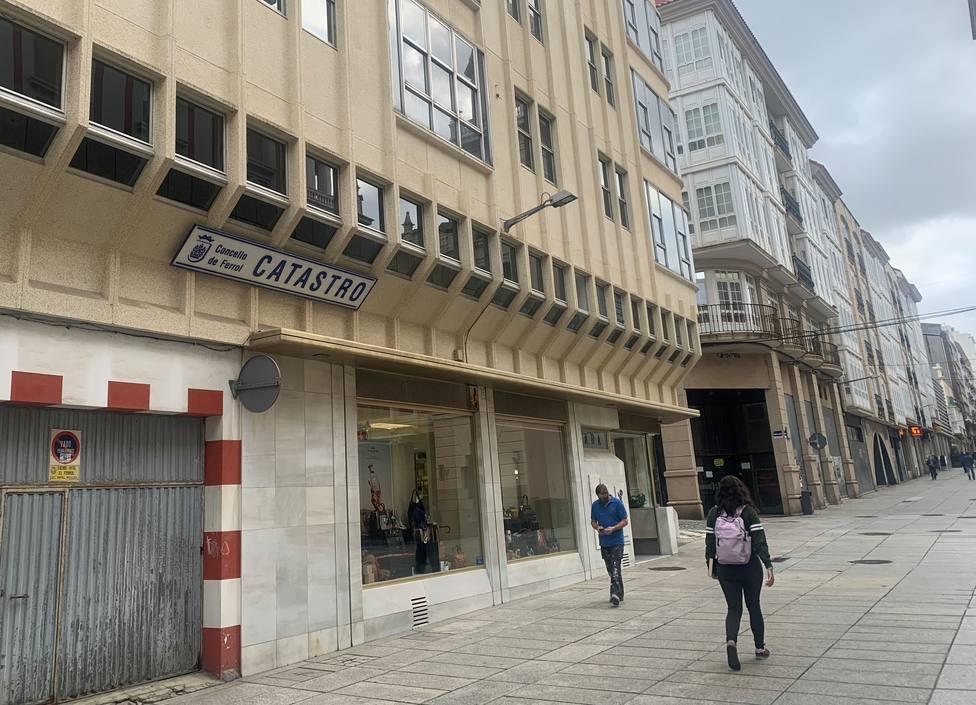 Foto del edificio del Catastro en Ferrol. FOTO: PP de Ferrol