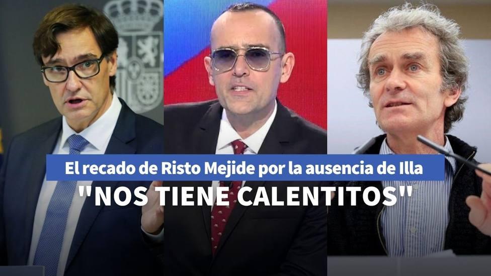 Risto Mejide y Salvador Illa