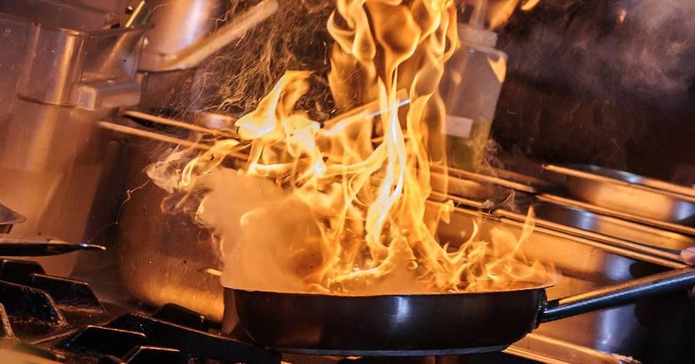 Sartén en llamas (foto recurso)