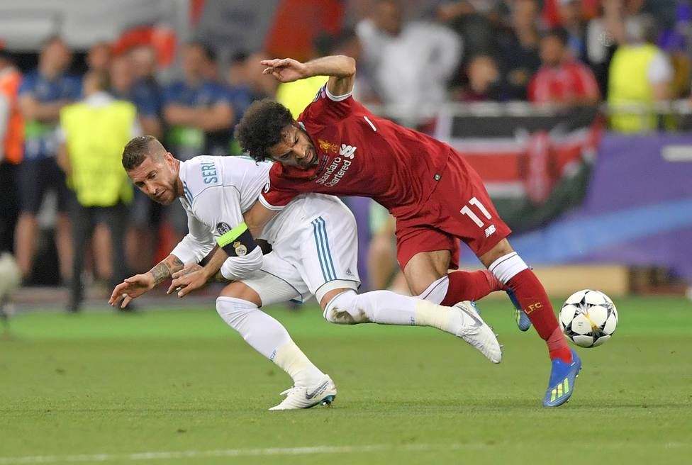 Sergio Ramos y Salah