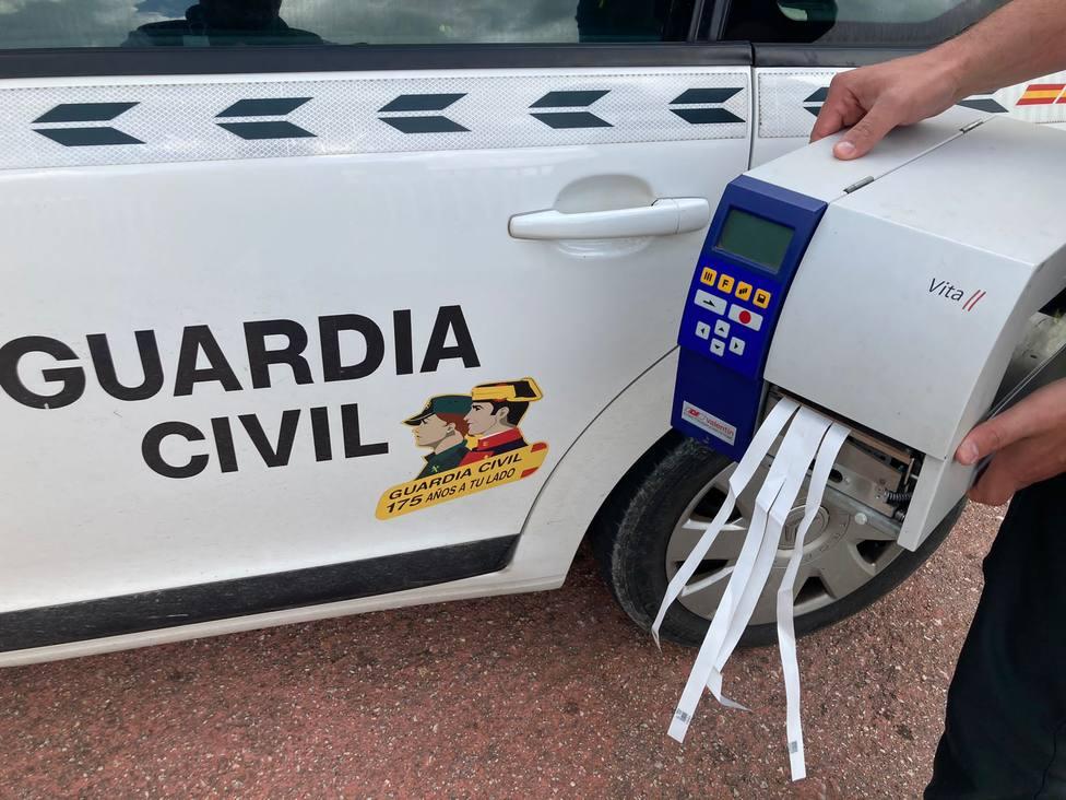 Máquina etiquetadora recuperada en Mondoñedo