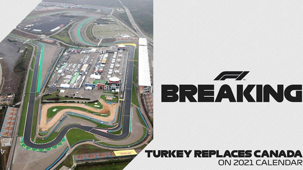 Turquía sustituye a Canadá en el calendario de la F1