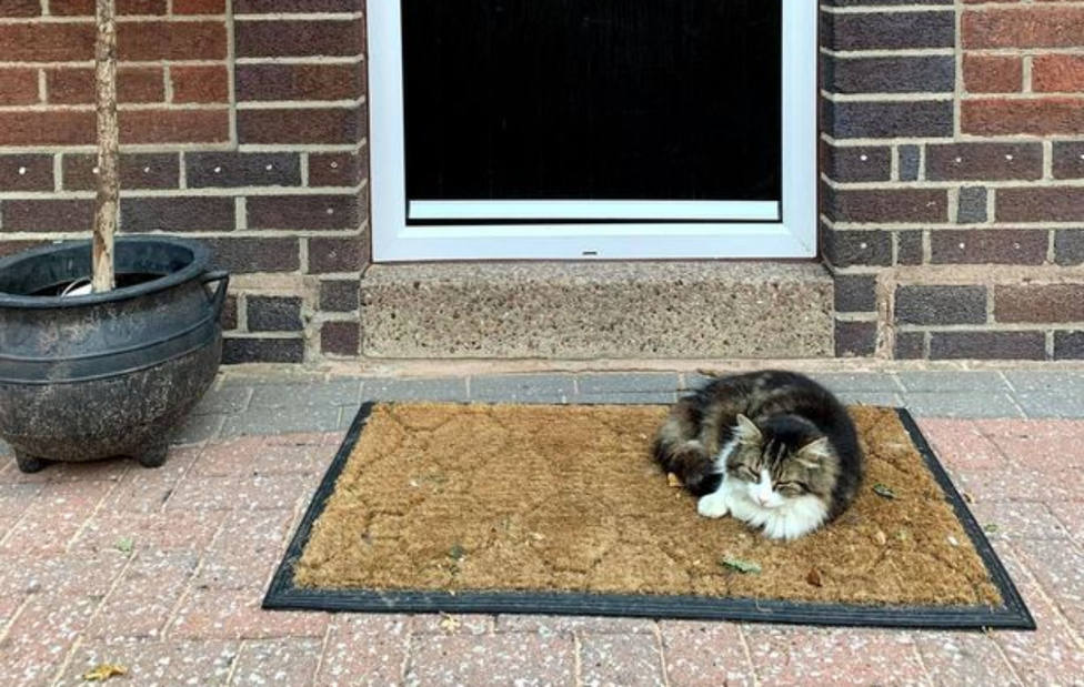 Fotografía de Frankie en la puerta de la casa de los Fitzsimmons / Manchester Evening News