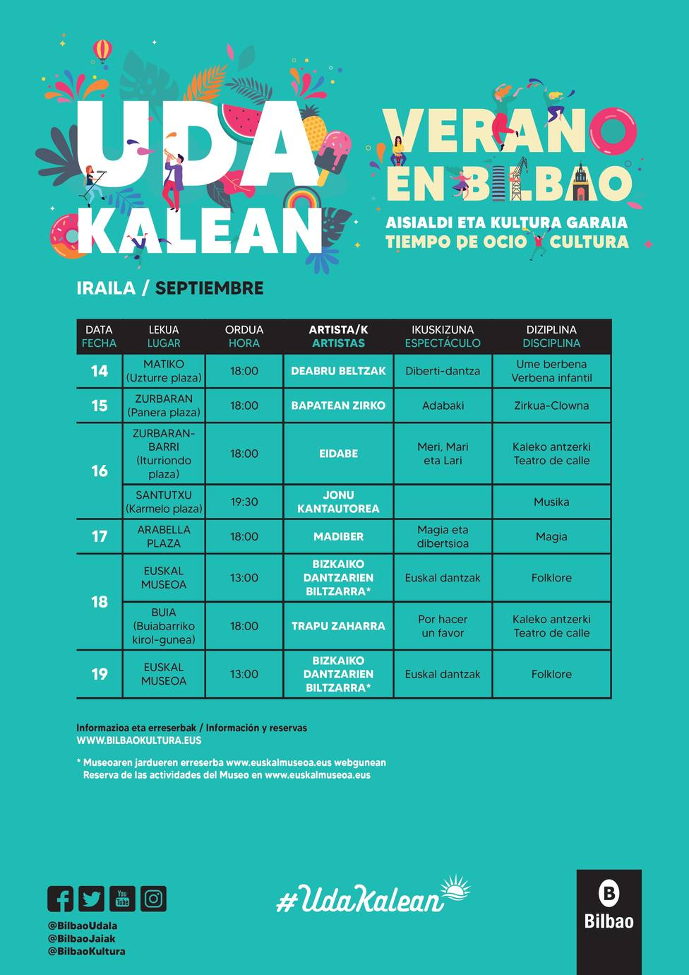 Programación cultural de Bilbao