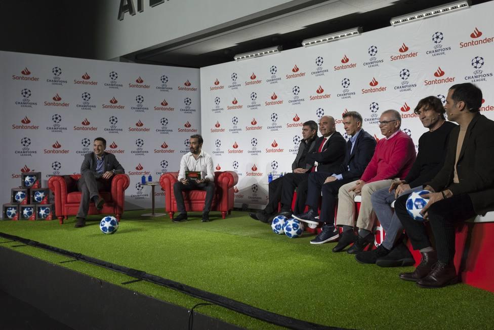 Exjugadores analizan este viernes en el Metropolitano el sorteo de la Champions en las Santander Talks