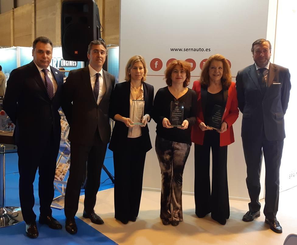 Pere Navarro, María Peña y Mariluz Barreiros reciben un reconocimiento en Motortec Automechanika