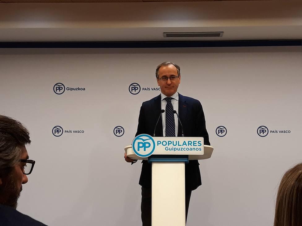 Alonso (PP) aboga por reconstruir puentes para superar el bloqueo y por entenderse con el PSOE, aunque no se deje