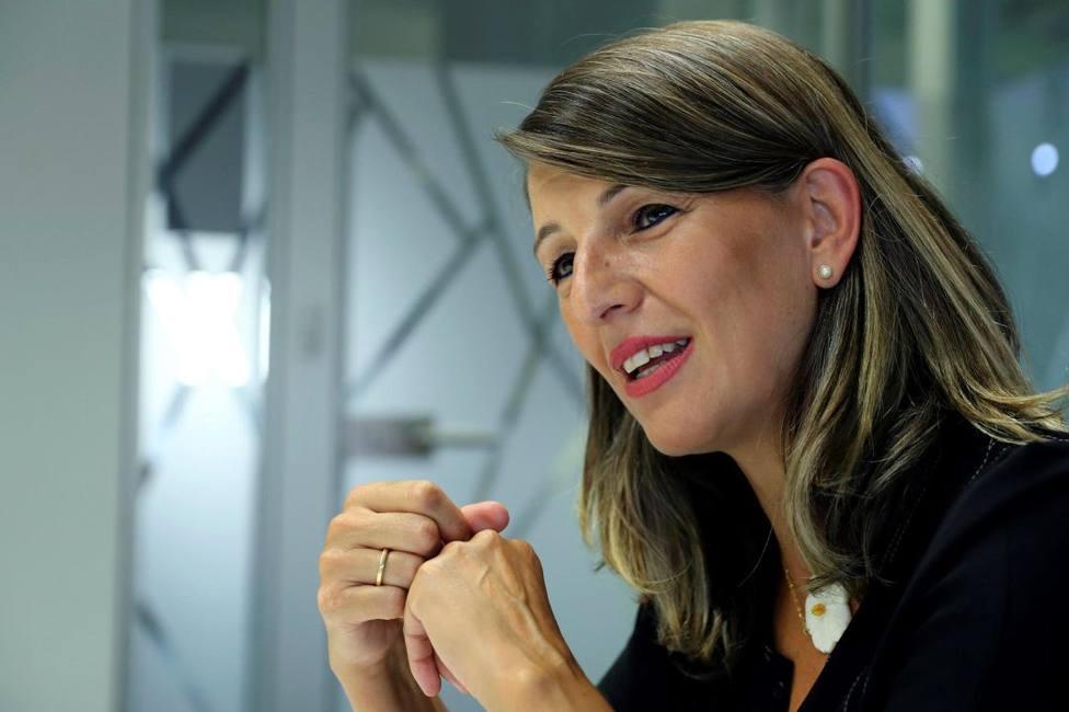 Yolanda Díaz, pieza clave en las negociaciones con el PSOE y convencida comunista