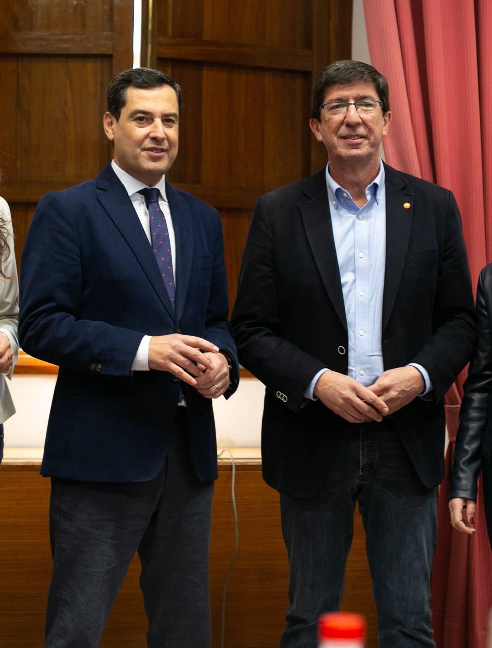 Juanma Moreno, Presidente andaluz y Juan Marín, vicepresidente