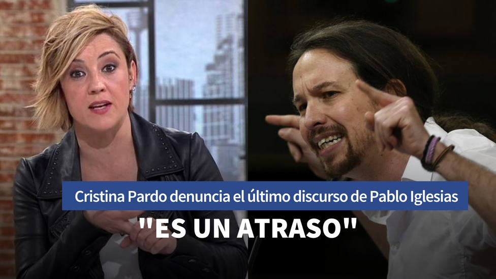 Linchan en redes a Cristina Pardo tras su última crítica a Pablo Iglesias: Es un atraso