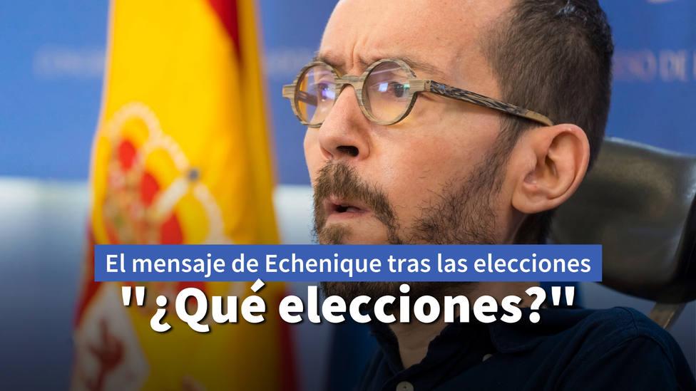 El primer mensaje de Echenique tras el desastre electoral de Podemos que hace estallar a las redes
