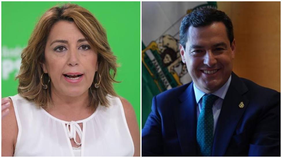 El dura acusación de Susana Díaz a Juanma Moreno por la polémica con las mascarillas de Andalucía